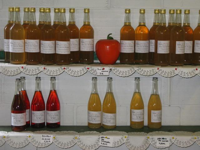 Mise en bouteille de jus de fruits